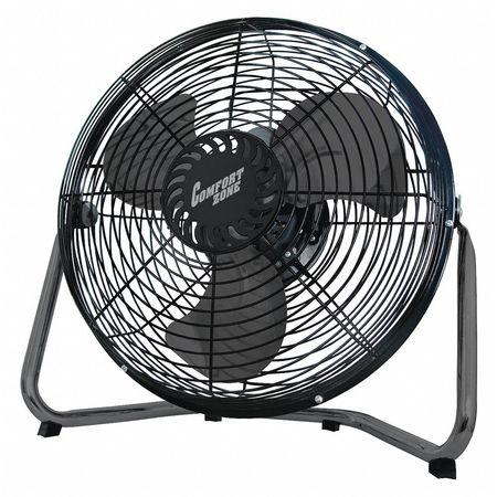 comfort zone floor fan high velocity cradle black 12