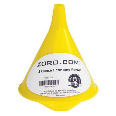 "Funnel, Polyethylene, 8 oz., 3-1/2Hx4-1/2""D"