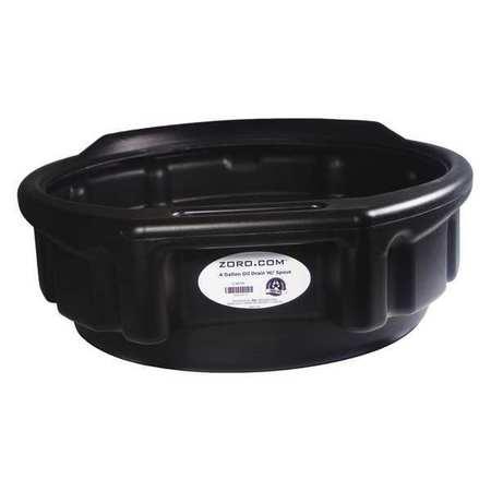 """Plastic Drain Pan , 4 gal., 17.3""""Dx5-1/2""""H"""