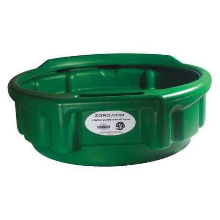 """Plastic Drain Pan, 4 gal.,  17-3/4""""x5-1/2"""""""