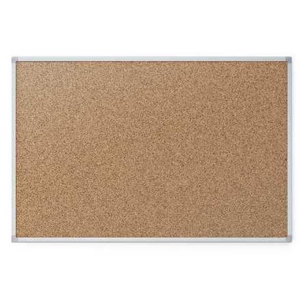 Cork Bulletin Board 3ft.x2ft., Aluminum Frame