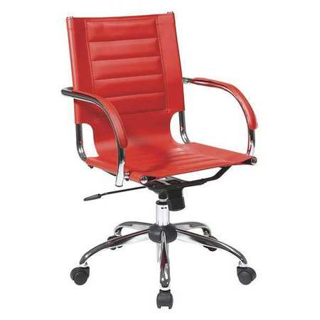 Office Chair Red 17 5 22 25 Seat Height
