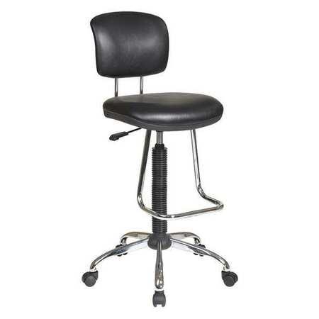 Beau Ergonomic Drafting Chair, Blk Vinyl Seat