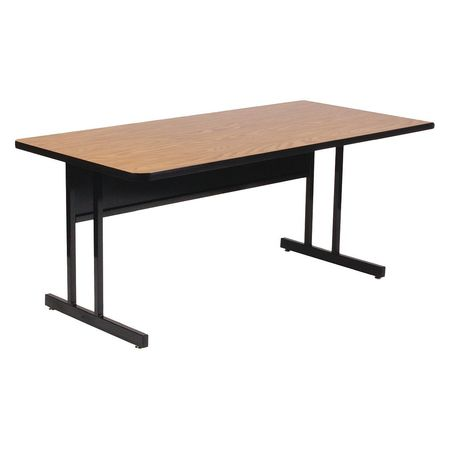 Correll Inc ComputerTraining Table X Adjustable Height Oak - Adjustable training table