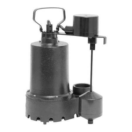 Sump Pump,Thermoplastic,1/2 HP -  DAYTON, 92572