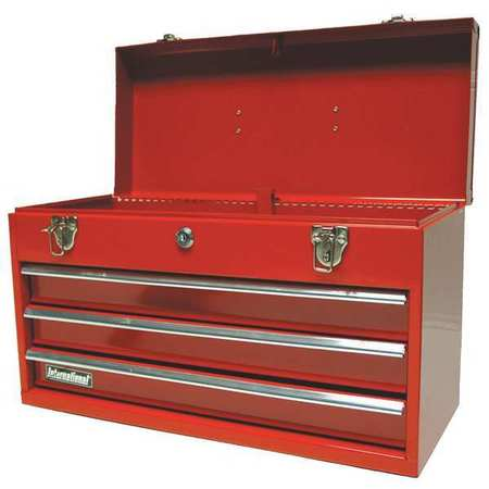 Portable Chest, 3 Drawer, Red