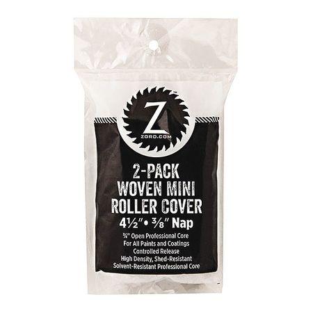 """Mini Roller Woven 3/8 Nap, 4.5"""", PK2"""