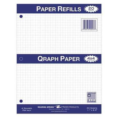 roaring spring 48pk looseleaf filler paper 8 5 x11 20 sht 3 hole