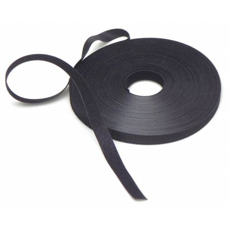 Hook and Loop Cable Tie, Black, 1""
