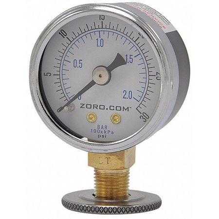 """Pressure Gauge, 1.5"""", 0-30, LM, 1/8"""" NPT"""