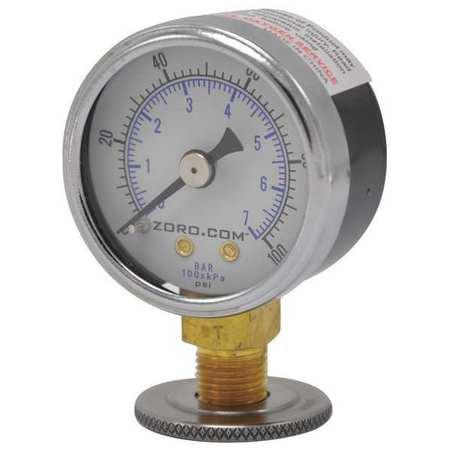 """Pressure Gauge, 1.5"""", 0-100, LM, 1/8"""" NPT"""