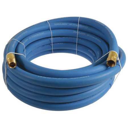 "3/4"" x 25 ft EPDM Coupled Multipurpose Air Hose 250 psi BL"