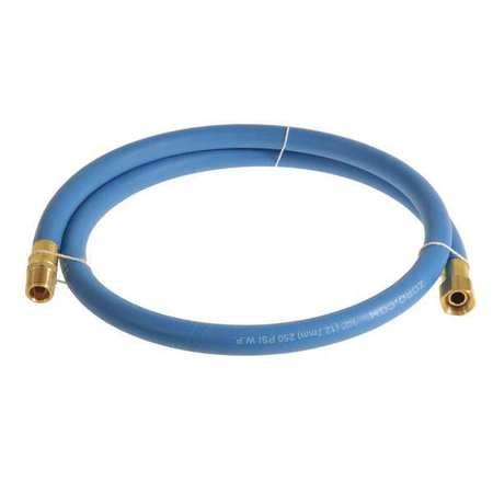 "1/2"" x 3 ft EPDM Coupled Multipurpose Air Hose 250 psi BL"