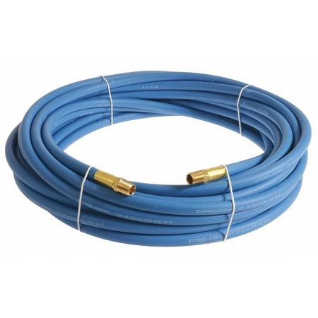 "1/4"" x 25 ft EPDM Coupled Multipurpose Air Hose 250 psi BL"