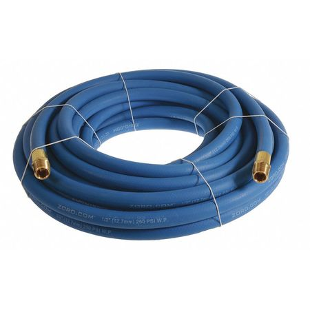 "1/2"" x 25 ft EPDM Coupled Multipurpose Air Hose 250 psi BL"