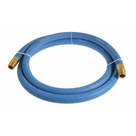 "3/4"" x 3 ft EPDM Coupled Multipurpose Air Hose 250 psi BL"