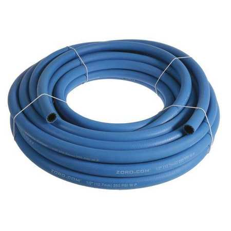 "1/2"" x 25 ft EPDM Bulk Multipurpose Air Hose 250 psi BL"