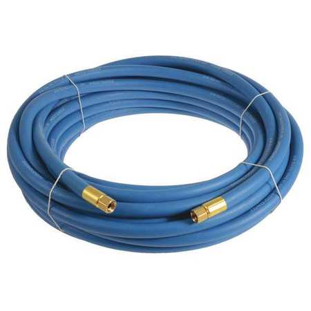 "3/8"" x 25 ft EPDM Coupled Multipurpose Air Hose 250 psi BL"