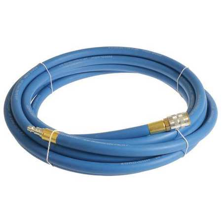 "3/8"" x 3 ft EPDM Coupled Multipurpose Air Hose 250 psi BL"