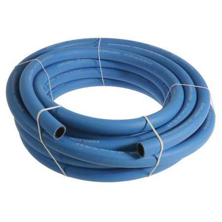 "3/4"" x 25 ft EPDM Bulk Multipurpose Air Hose 250 psi BL"