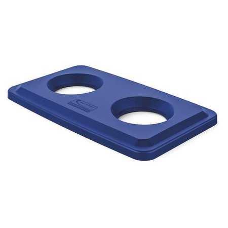 Suncast Commercial Slim Trash Can Lid 21 W X12d X2h Blue