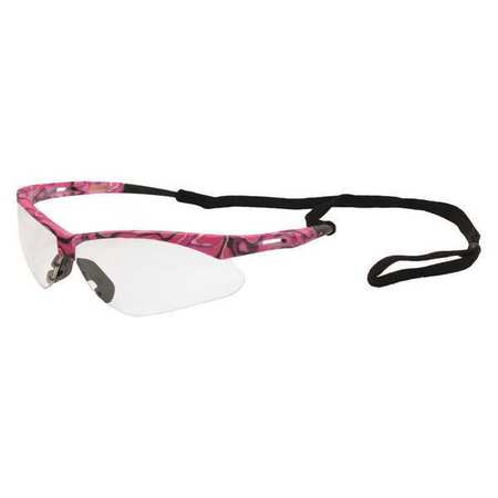Annie Safety Glasses, Pink Camo Frame, Clear 15341 | Zoro.com