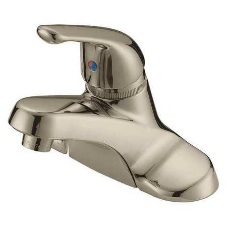 B&K Faucet, Lavatory 1Lever Handl Bn Brpop Up PK6 222-341 | Zoro.com