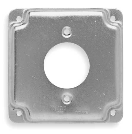 Electrical Box Cover, 20A Receptacle, 1/2""