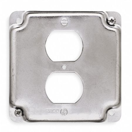 Electrical Box Cover, Square, 4 in.