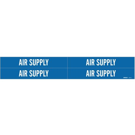Pipe Marker, Air Supply, Bl, 3/4 to2-3/8 In