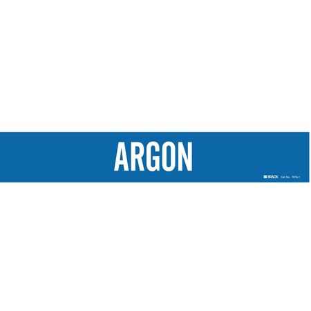 Pipe Marker, Argon, Blue, 2-1/2 to 7-7/8 In