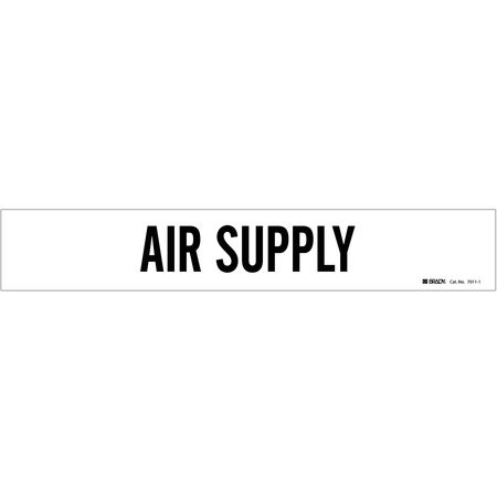 Pipe Mrkr, Air Supply, Wht, 2-1/2to7-7/8 In