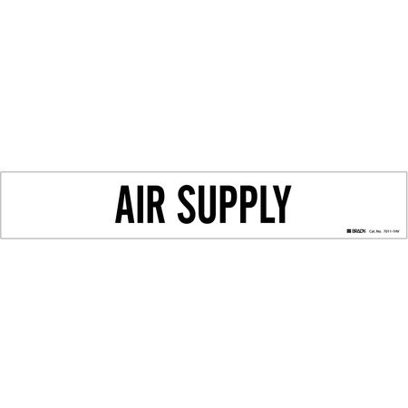 Pipe Marker, Air Supply, White, 8 In orGrtr