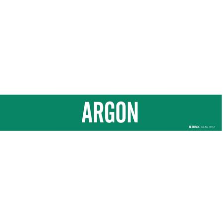 Pipe Marker, Argon, Grn, 2-1/2 to 7-7/8 In