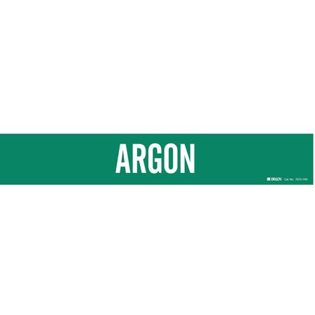 Pipe Marker, Argon, Green, 8 In or Greater