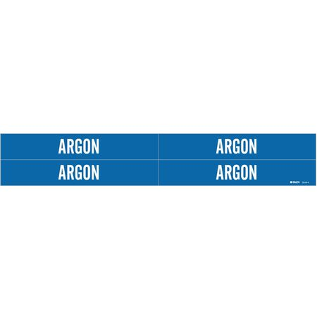 Pipe Marker, Argon, Blue, 3/4 to 2-3/8 In
