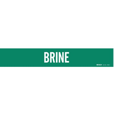 Pipe Marker, Brine, Grn, 2-1/2 to 7-7/8 In