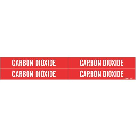 Pipe Marker, Carbon Dioxide, 3/4to2-3/8 In