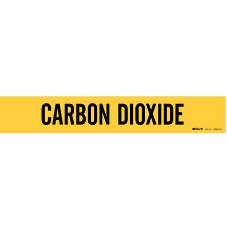 Pipe Marker, Carbon Dioxide, Y, 8 In orGrtr