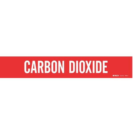 Pipe Mrkr, Carbon Dioxide, 2-1/2to7-7/8 In