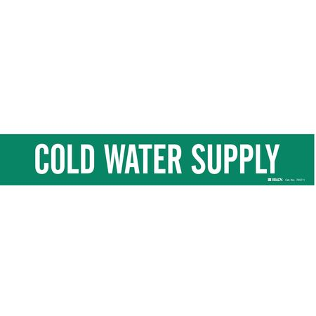 Pipe Mrkr, Cold Water Supply, 2-1/2to7-7/8