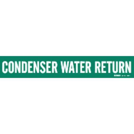 Pipe Marker, Condenser Water Return, Green