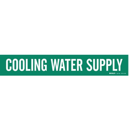Pipe Mkr, Cooling Water Supply, 8In orGrtr