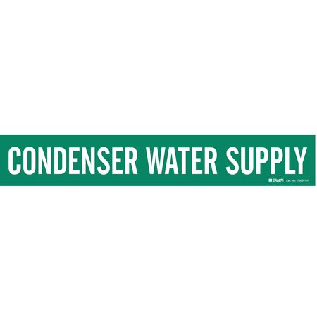 Pipe Marker, Condenser Water Supply, Green