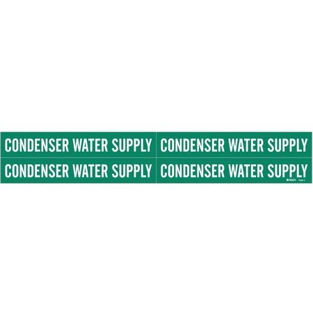 Pipe Marker, Condenser Water Supply, Green