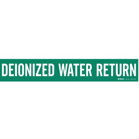 Pipe Marker, Deionized Water Return, Green