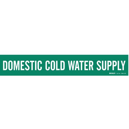 Pipe Marker, Domestic Cold Water Supply