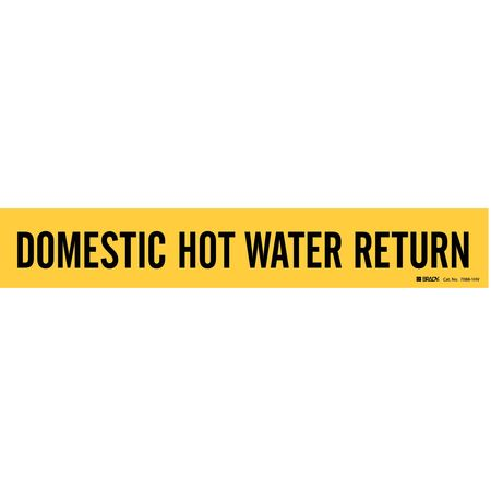 Pipe Marker, Domestic Hot Water Return, Y