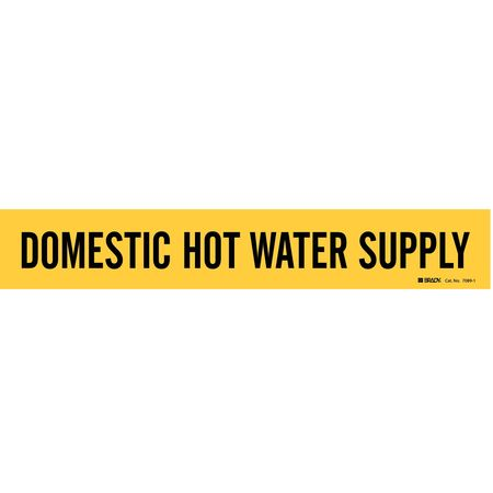 Pipe Marker, Domestic Hot Water Supply, Y