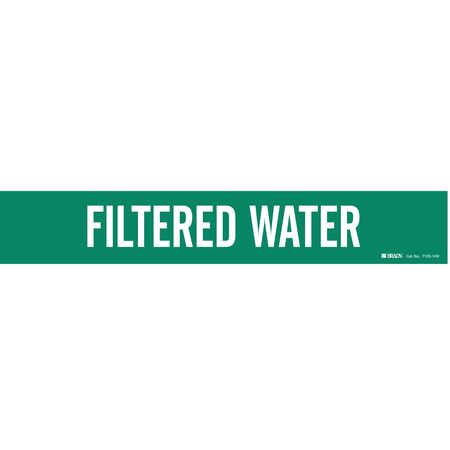 Pipe Marker, FilteR Water, Gn, 8 In or Lrgr